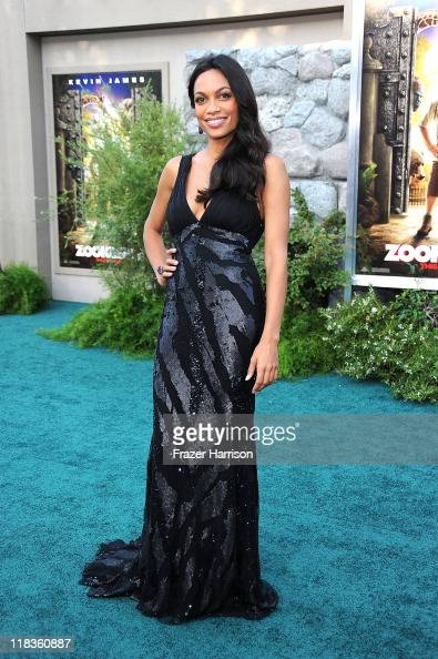 Actress Rosario Dawson arrives at the Premiere of 'The Zookeeper' at the Regency Village Theater Westwood on July 6 2011 in Los Angeles California