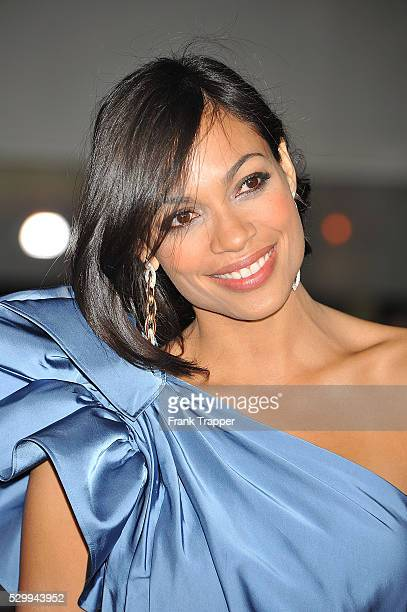 Actress Rosario Dawson arrives at the premiere of 'Unstoppable' held at the Regency Village Theater in Westwood