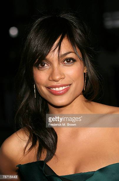 Actress Rosario Dawson arrives to the premiere of 'Grindhouse' at the Orpheum Theatre on March 26 2007 in Los Angeles California