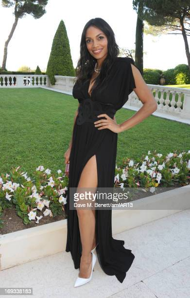 Actress Rosario Dawson attends amfAR's 20th Annual Cinema Against AIDS during The 66th Annual Cannes Film Festival at Hotel du CapEdenRoc on May 23...