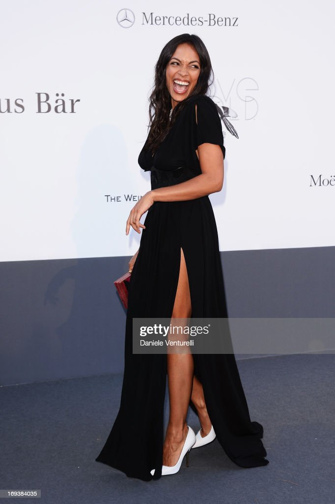 Actress Rosario Dawson attends amfAR's 20th Annual Cinema Against AIDS during The 66th Annual Cannes Film Festival at Hotel du Cap-Eden-Roc on May 23, 2013 in Cap d'Antibes, France.