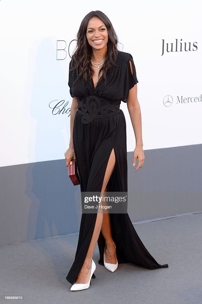 Actress <a gi-track='captionPersonalityLinkClicked' href=/galleries/search?phrase=Rosario+Dawson&family=editorial&specificpeople=201472 ng-click='$event.stopPropagation()'>Rosario Dawson</a> attends amfAR's 20th Annual Cinema Against AIDS during The 66th Annual Cannes Film Festival at Hotel du Cap-Eden-Roc on May 23, 2013 in Cap d'Antibes, France.