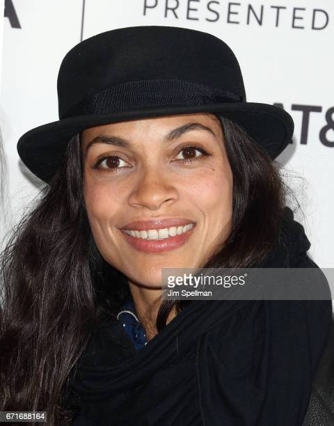 Actress Rosario Dawson attends 'Awake A Dream From Standing Rock' during the 2017 Tribeca Film Festival at Cinepolis Chelsea on April 22 2017 in New...