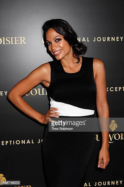 Actress Rosario Dawson attends Courvoisier Cognac's Exceptional Journey Campaign Celebration on November 11 2015 in New York City