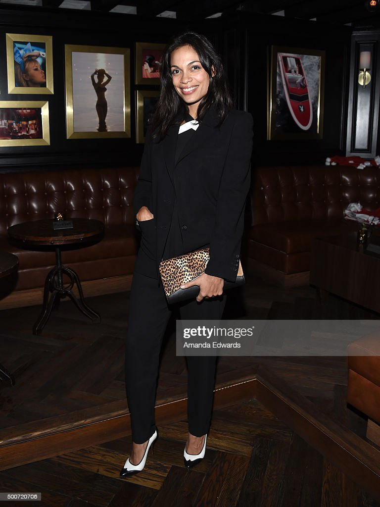 Actress Rosario Dawson attends Geoff Stults' birthday party fundraiser to benefit The Charlotte and Gwenyth Gray Foundation at Rock and Reilly's Irish Pub on December 9, 2015 in West Hollywood, California.