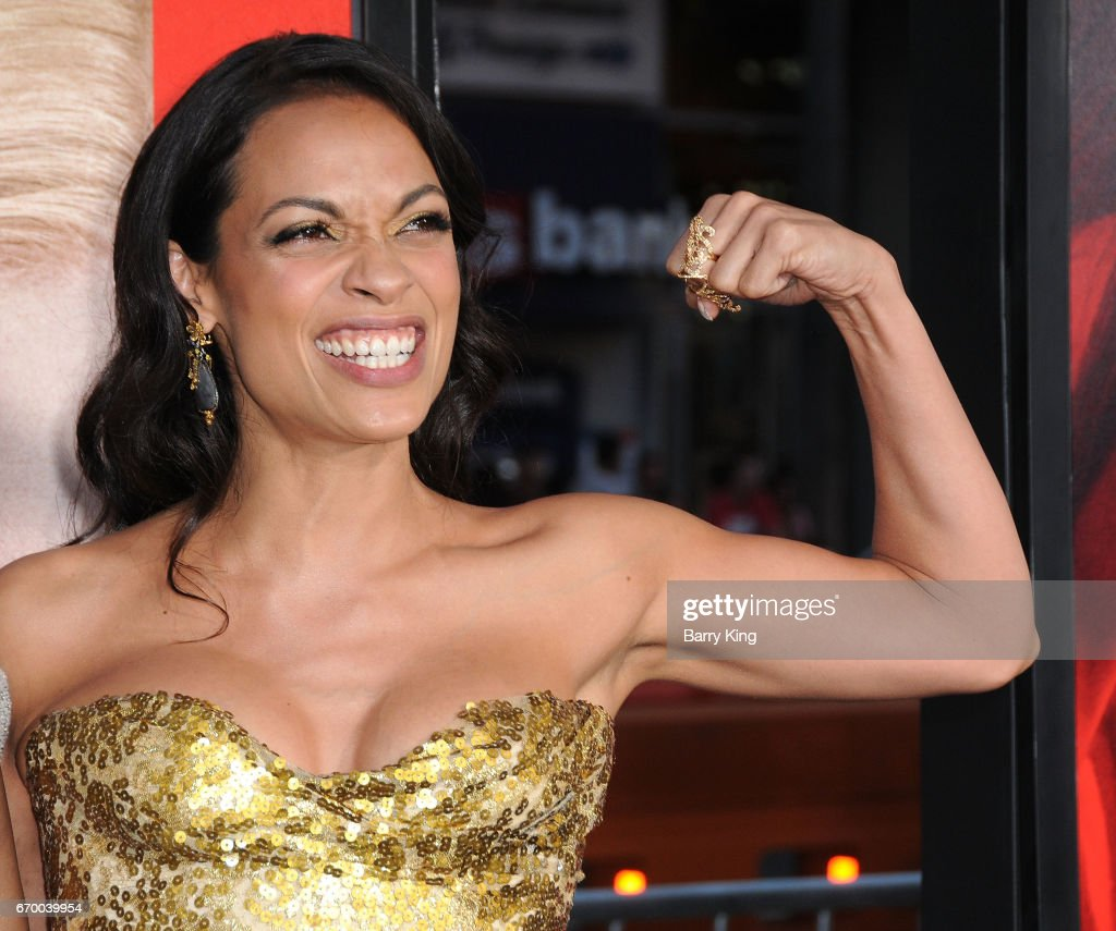 Actress Rosario Dawson attends premiere of Warner Bros. Pictures' 'Unforgettable' at TCL Chinese Theatre on April 18, 2017 in Hollywood, California.