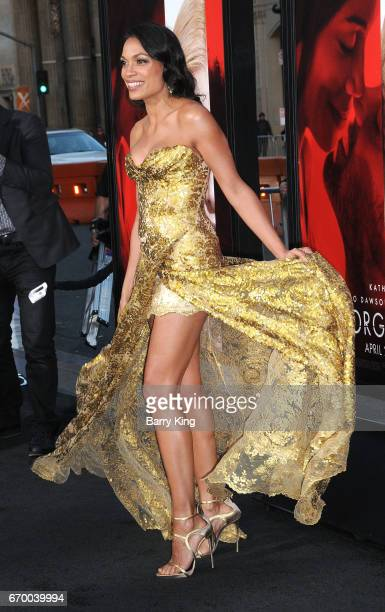 Actress Rosario Dawson attends premiere of Warner Bros Pictures' 'Unforgettable' at TCL Chinese Theatre on April 18 2017 in Hollywood California