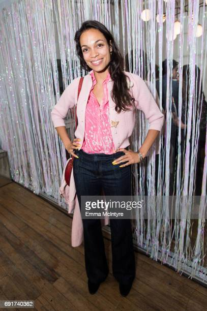 Actress Rosario Dawson attends 'Super Deluxe and Sarah Ramos present a live reading of City Girl' on June 2 2017 in Los Angeles California