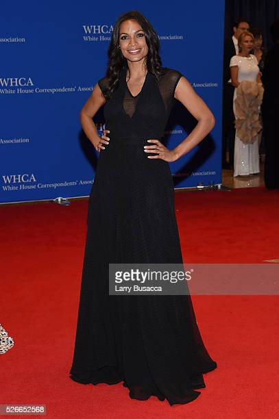 Actress Rosario Dawson attends the 102nd White House Correspondents' Association Dinner on April 30 2016 in Washington DC