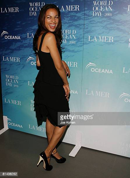 Actress Rosario Dawson attends the 2008 World Ocean Day hosted by La Mer and Oceana on June 4 2008 at Rockefeller Center in New York