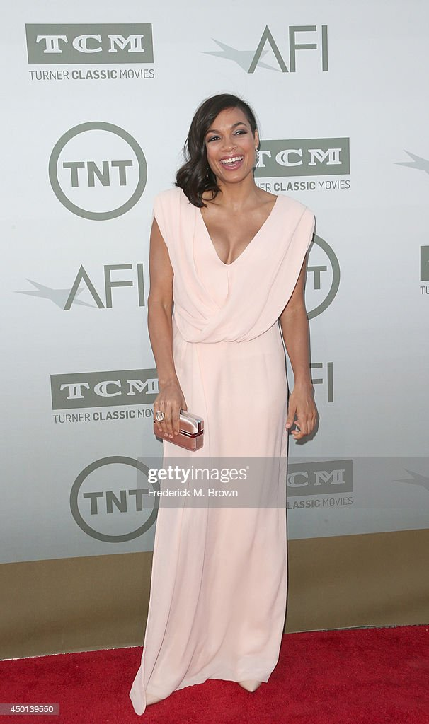 Actress Rosario Dawson attends the 2014 AFI Life Achievement Award: A Tribute to Jane Fonda at the Dolby Theatre on June 5, 2014 in Hollywood, California. Tribute show airing Saturday, June 14, 2014 at 9pm ET/PT on TNT.