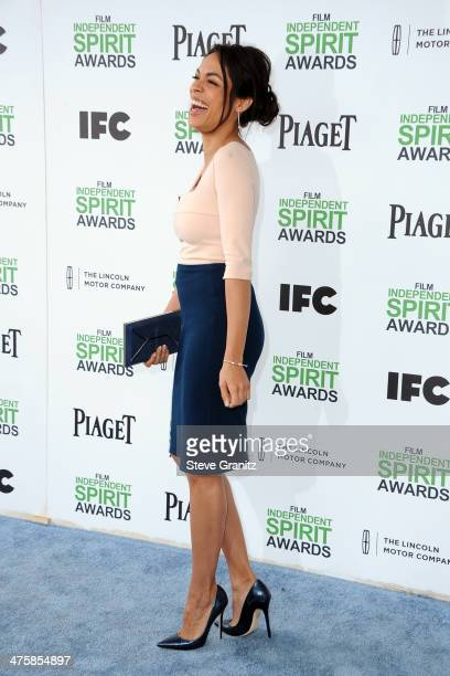 Actress Rosario Dawson attends the 2014 Film Independent Spirit Awards at Santa Monica Beach on March 1 2014 in Santa Monica California