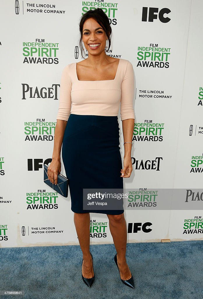 Actress <a gi-track='captionPersonalityLinkClicked' href=/galleries/search?phrase=Rosario+Dawson&family=editorial&specificpeople=201472 ng-click='$event.stopPropagation()'>Rosario Dawson</a> attends the 2014 Film Independent Spirit Awards at Santa Monica Beach on March 1, 2014 in Santa Monica, California.