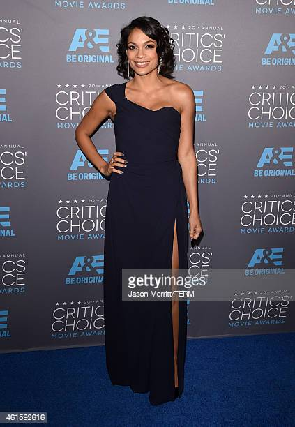 Actress Rosario Dawson attends the 20th annual Critics' Choice Movie Awards at the Hollywood Palladium on January 15 2015 in Los Angeles California
