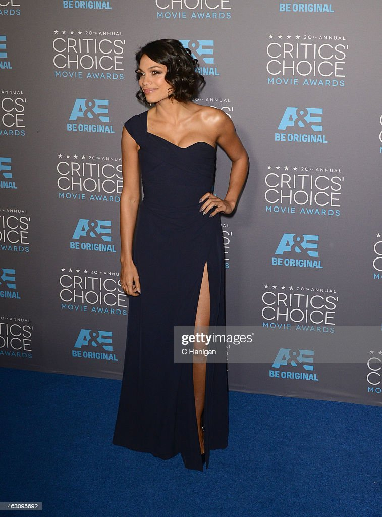 Actress Rosario Dawson attends The 20th Annual Critics' Choice Movie Awards at Hollywood Palladium on January 15, 2015 in Los Angeles, California.