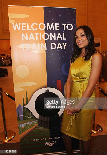Actress Rosario Dawson attends The 5th Annual National Train Day presented by Amtrak at Grand Central Station on May 12 2012 in New York City
