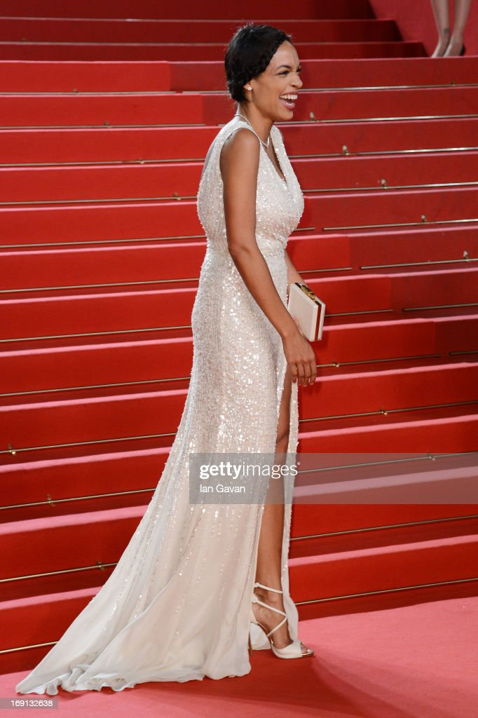 Actress <a gi-track='captionPersonalityLinkClicked' href=/galleries/search?phrase=Rosario+Dawson&family=editorial&specificpeople=201472 ng-click='$event.stopPropagation()'>Rosario Dawson</a> attends the 'As I Lay Dying' Premiere during the 66th Annual Camnes Film Festival at the Palais des Festivals on May 20, 2013 in Cannes, France.