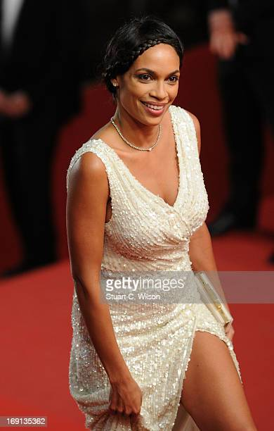 Actress Rosario Dawson attends the 'As I Lay Dying' Premiere during the 66th Annual Camnes Film Festival at the Palais des Festivals on May 20 2013...