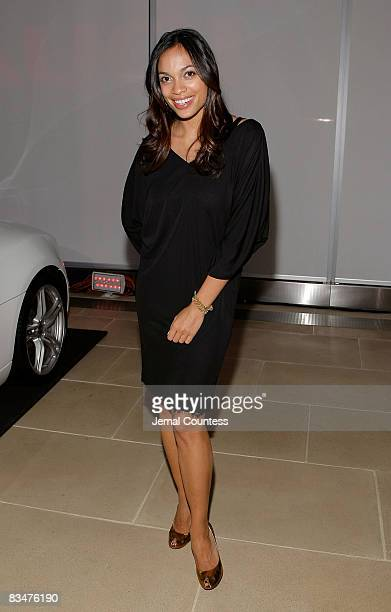 Actress Rosario Dawson attends the Audi Launch Event For The New 2009 Audi A4 at The IAC Building on October 28 2008 in New York City