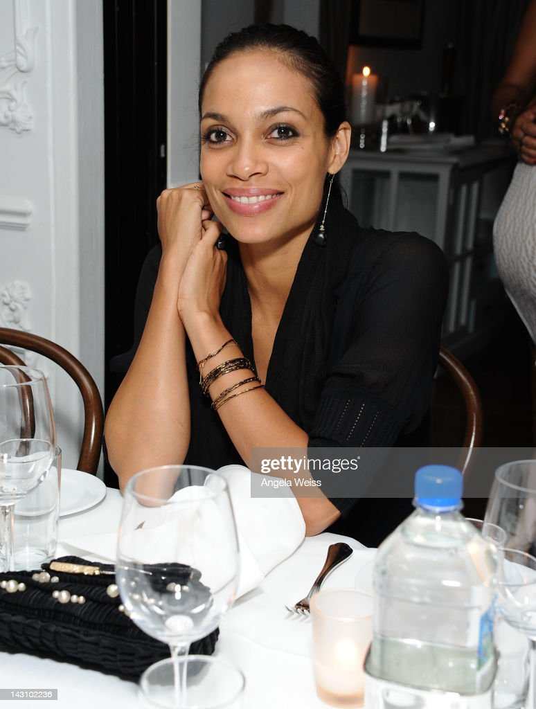 Actress <a gi-track='captionPersonalityLinkClicked' href=/galleries/search?phrase=Rosario+Dawson&family=editorial&specificpeople=201472 ng-click='$event.stopPropagation()'>Rosario Dawson</a> attends the 'Black November' post-screening dinner at Bagatelle on April 18, 2012 in Beverly Hills, California.
