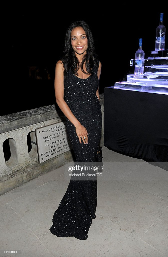 Actress <a gi-track='captionPersonalityLinkClicked' href=/galleries/search?phrase=Rosario+Dawson&family=editorial&specificpeople=201472 ng-click='$event.stopPropagation()'>Rosario Dawson</a> attends the CAA Party with Grey Goose at Soho House Cannes in celebration of the 64th Annual Cannes Film Festival at Villa Eilenroc on May 14, 2011 in Cannes, France.