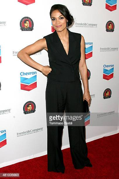 Actress Rosario Dawson attends the Cesar Chavez Foundation's 2014 Legacy Awards Dinner held at the Millennium Biltmore Hotel on March 27 2014 in Los...