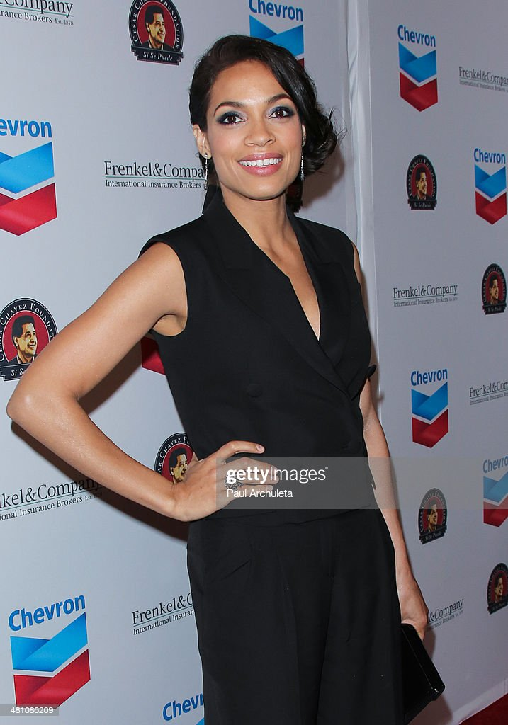 Actress <a gi-track='captionPersonalityLinkClicked' href=/galleries/search?phrase=Rosario+Dawson&family=editorial&specificpeople=201472 ng-click='$event.stopPropagation()'>Rosario Dawson</a> attends the Cesar Chavez Foundation's 2014 Legacy Awards dinner at Millennium Biltmore Hotel on March 28, 2014 in Los Angeles, California.