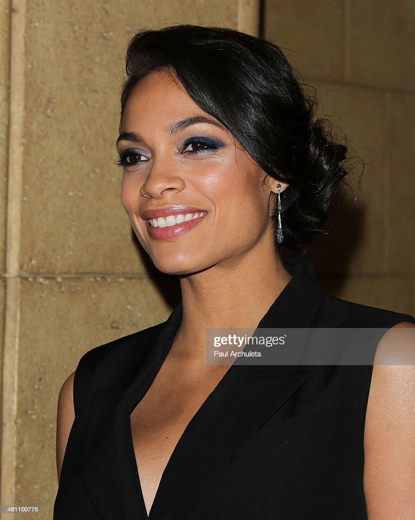 Actress Rosario Dawson attends the Cesar Chavez Foundation's 2014 Legacy Awards dinner at Millennium Biltmore Hotel on March 28, 2014 in Los Angeles, California.