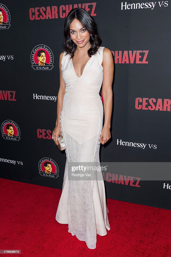 Actress Rosario Dawson attends the 'Cesar Chavez' Los Angeles Premiere at TCL Chinese Theatre on March 20, 2014 in Hollywood, California.