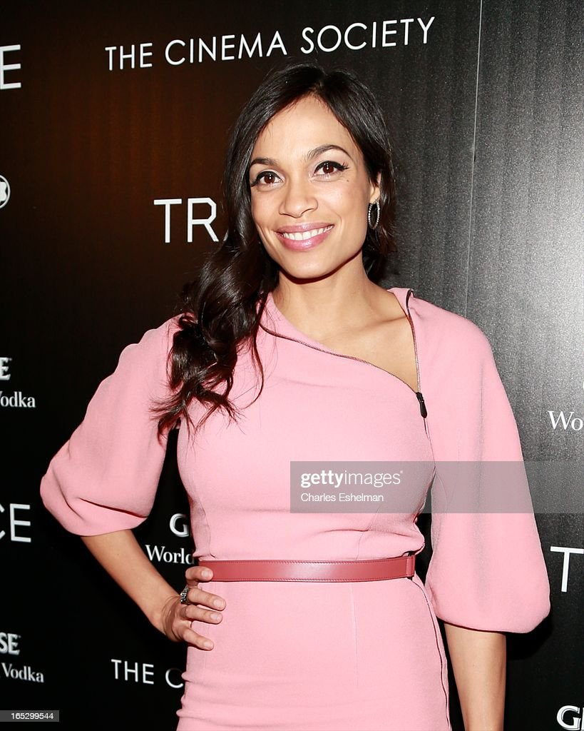 Actress <a gi-track='captionPersonalityLinkClicked' href=/galleries/search?phrase=Rosario+Dawson&family=editorial&specificpeople=201472 ng-click='$event.stopPropagation()'>Rosario Dawson</a> attends The Cinema Society & Montblanc Host Fox Searchlight Pictures' 'Trance' at SVA Theatre on April 2, 2013 in New York City.