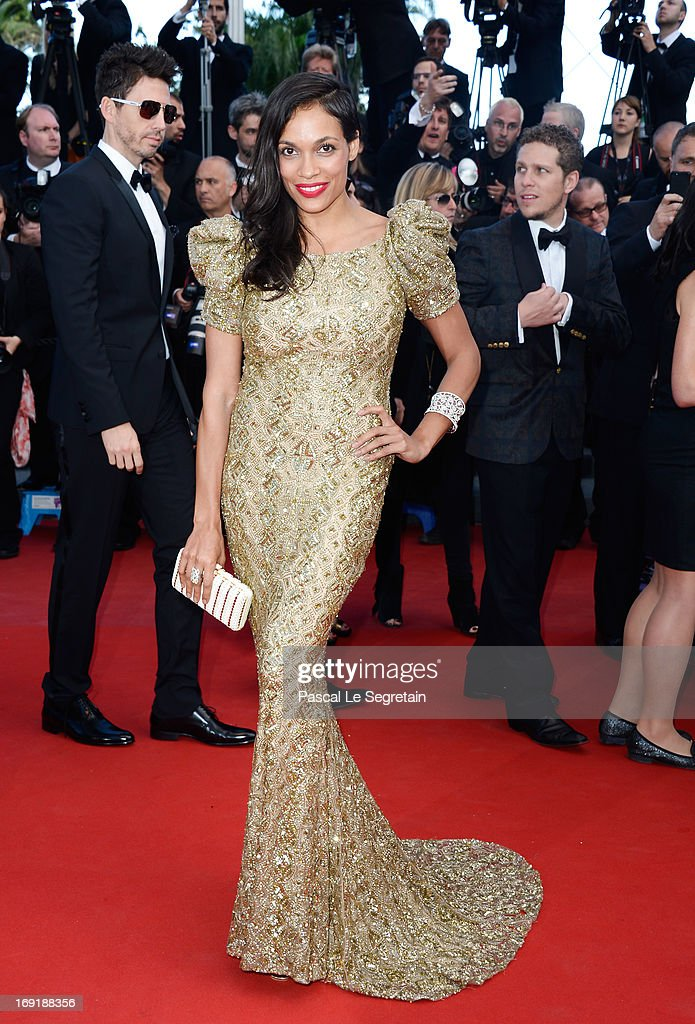 Actress Rosario Dawson attends the 'Cleopatra' premiere during The 66th Annual Cannes Film Festival at The 60th Anniversary Theatre on May 21, 2013 in Cannes, France.
