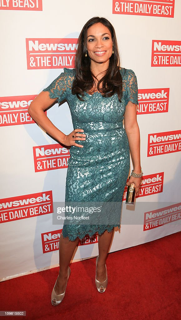 Actress <a gi-track='captionPersonalityLinkClicked' href=/galleries/search?phrase=Rosario+Dawson&family=editorial&specificpeople=201472 ng-click='$event.stopPropagation()'>Rosario Dawson</a> attends The Daily Beast Bi-Partisan Inauguration Brunch at Cafe Milano on January 20, 2013 in Washington, DC.
