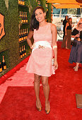 Actress Rosario Dawson attends the FifthAnnual Veuve Clicquot Polo Classic at Will Rogers State Historic Park on October 11 2014 in Pacific Palisades...