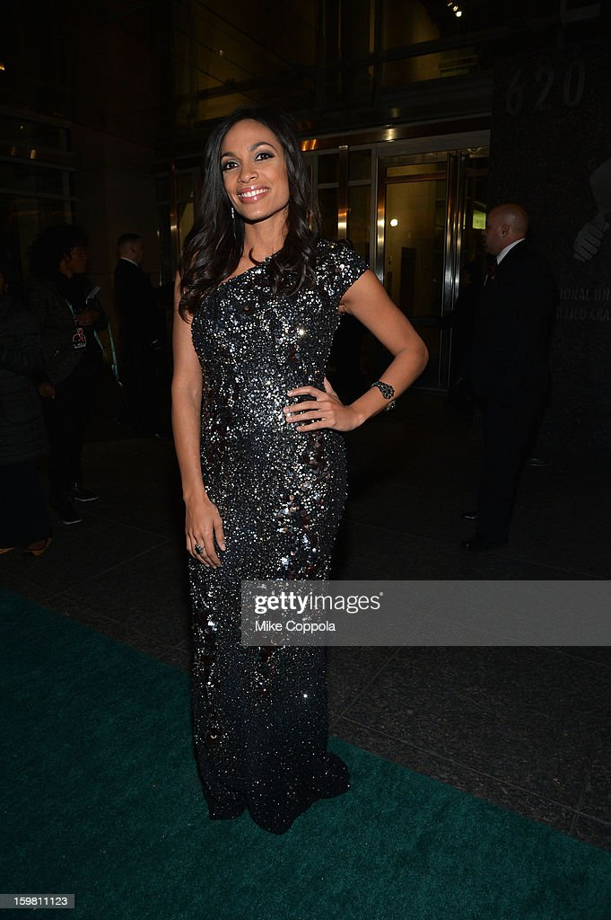 Actress <a gi-track='captionPersonalityLinkClicked' href=/galleries/search?phrase=Rosario+Dawson&family=editorial&specificpeople=201472 ng-click='$event.stopPropagation()'>Rosario Dawson</a> attends The Hip Hop Inaugural Ball II sponsored by Heineken USA at Harman Center for the Arts on January 20, 2013 in Washington, DC.