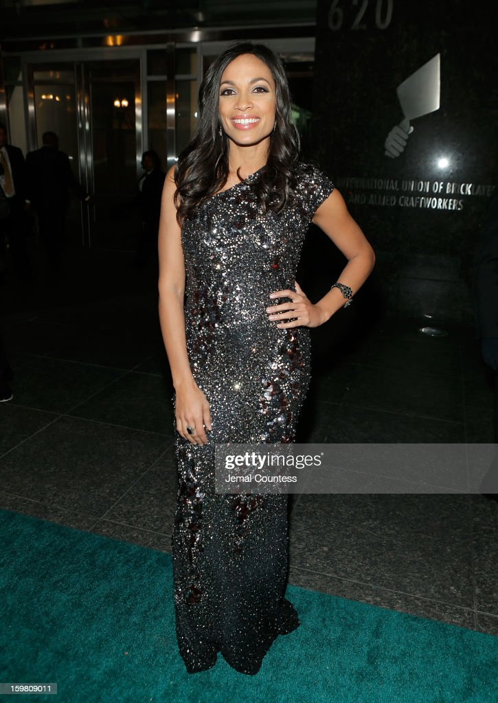 Actress <a gi-track='captionPersonalityLinkClicked' href=/galleries/search?phrase=Rosario+Dawson&family=editorial&specificpeople=201472 ng-click='$event.stopPropagation()'>Rosario Dawson</a> attends The Hip-Hop Inaugural Ball II at Harman Center for the Arts on January 20, 2013 in Washington, DC.