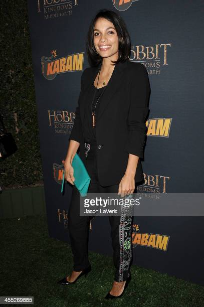 Actress Rosario Dawson attends 'The Hobbit The Desolation Of Smaug' expansion pack game launch at Eveleigh on December 11 2013 in West Hollywood...
