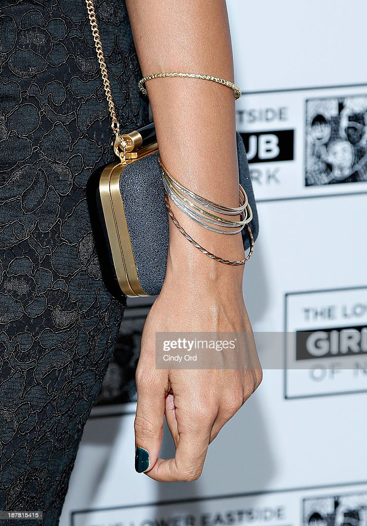 Actress Rosario Dawson (accessory detail) attends the Lower East Side Girls Club Grand Opening Gala on November 12, 2013 in New York City.