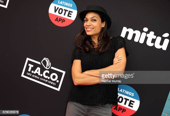 Actress Rosario Dawson attends the mitu TACO Challenge on May 7 2016 in Los Angeles California