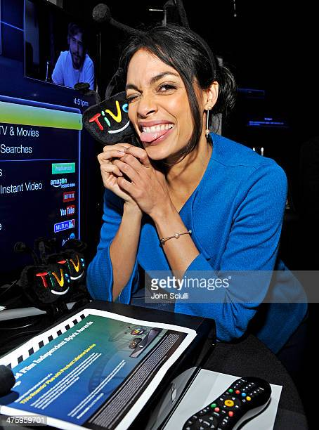 Actress Rosario Dawson attends the On3 Official Presenter Gift Lounge during the 2014 Film Independent Spirit Awards at Santa Monica Beach on March 1...