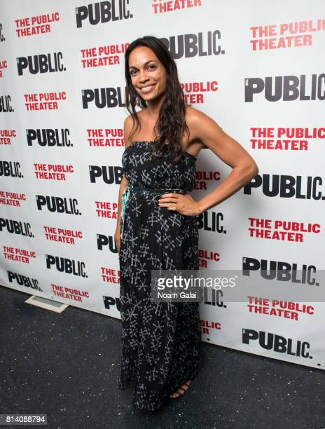 Actress Rosario Dawson attends the opening night of 'Hamlet' at The Public Theater on July 13 2017 in New York City