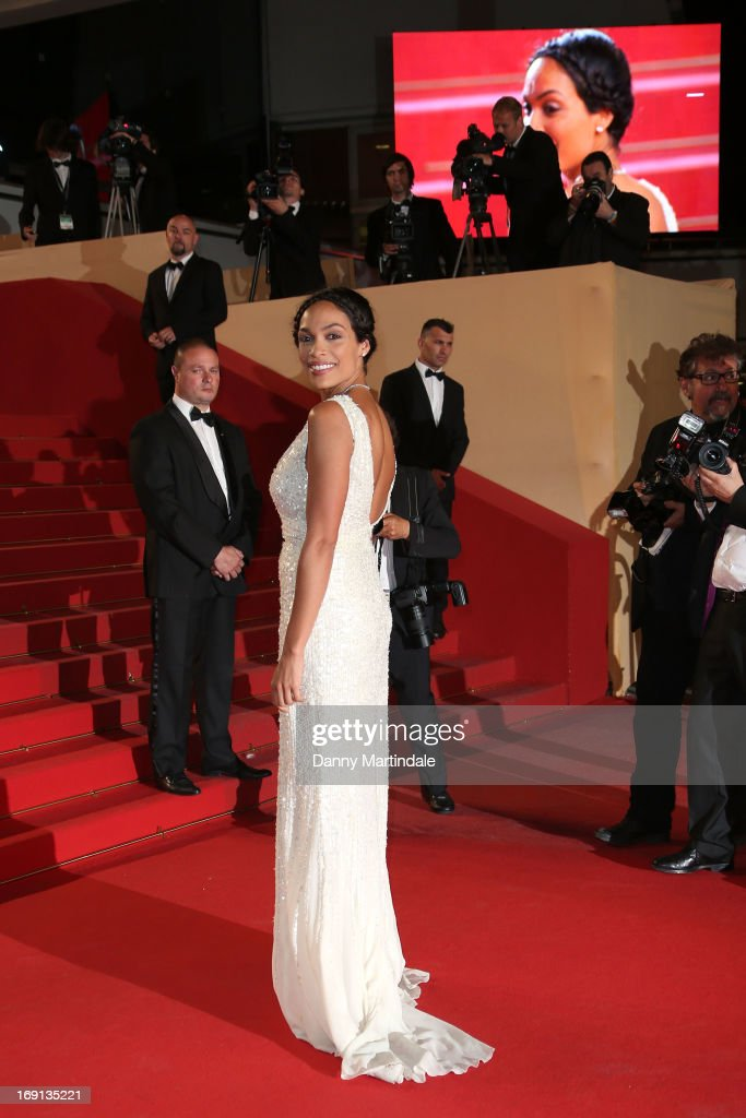 Actress <a gi-track='captionPersonalityLinkClicked' href=/galleries/search?phrase=Rosario+Dawson&family=editorial&specificpeople=201472 ng-click='$event.stopPropagation()'>Rosario Dawson</a> attends the Premiere of 'As I Lay Dying' during the 66th Annual Cannes Film Festival at the Palais des Festivals on May 20, 2013 in Cannes, France.