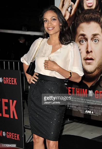 Actress Rosario Dawson attends the premiere of 'Get Him To The Greek' at The Greek Theatre on May 25 2010 in Los Angeles California
