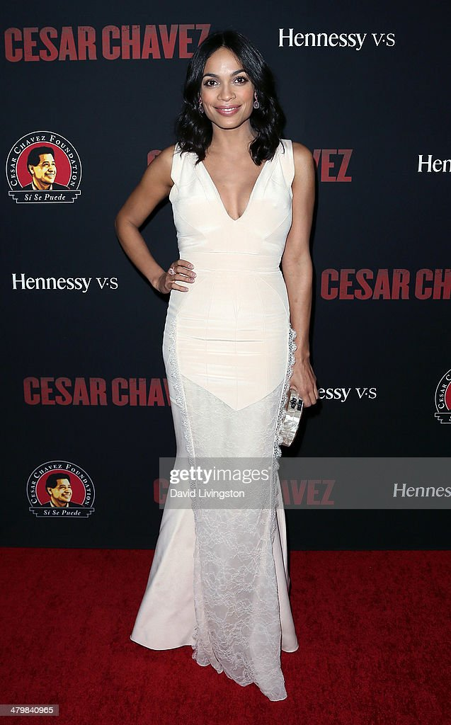 Actress Rosario Dawson attends the premiere of Pantelion Films and Participant Media's 'Cesar Chavez' at TCL Chinese Theatre on March 20, 2014 in Hollywood, California.
