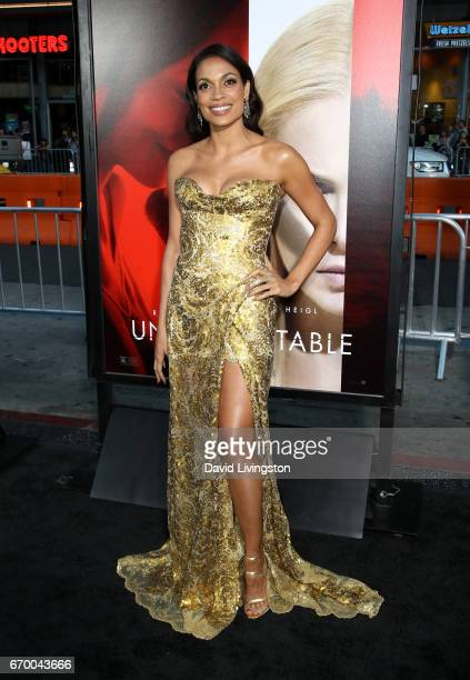 Actress Rosario Dawson attends the premiere of Warner Bros Pictures' 'Unforgettable' at TCL Chinese Theatre on April 18 2017 in Hollywood California