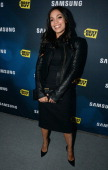 Actress Rosario Dawson attends the Samsung Experience Shop Best Buy Official Launch Event at Cunard Hall on April 25 2013 in New York City