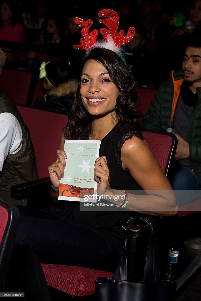 Actress Rosario Dawson attends the ThankYou By Childhood USA Advocacy Campaign, #EyesWideOpen Initiative at the Miller Theater in West Harlem 2015 on December 6, 2015 in New York City.