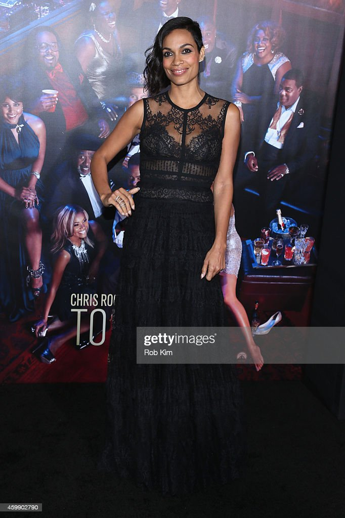 Actress Rosario Dawson attends the 'Top Five' New York Premiere at Ziegfeld Theater on December 3, 2014 in New York City.
