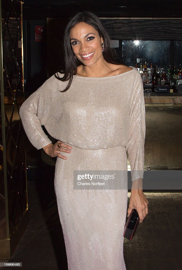 Actress <a gi-track='captionPersonalityLinkClicked' href=/galleries/search?phrase=Rosario+Dawson&family=editorial&specificpeople=201472 ng-click='$event.stopPropagation()'>Rosario Dawson</a> attends the Voto Latino 'Welcome To 1600 Part II' Inaugural Gala at Josephine on January 21, 2013 in Washington, DC.