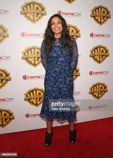Actress Rosario Dawson attends the Warner Bros Pictures presentation during CinemaCon at The Colosseum at Caesars Palace on March 29 2017 in Las...