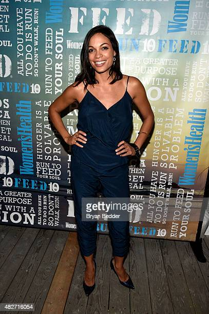 Actress Rosario Dawson attends the Women's Health's 4th annual party under the stars for RUN10 FEED10 on August 1 2015 in Bridgehampton New York